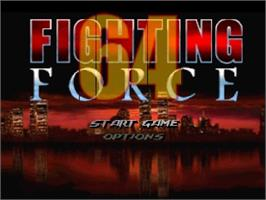 Title screen of Fighting Force 64 on the Nintendo N64.