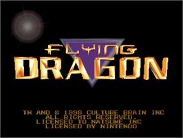 Title screen of Flying Dragon on the Nintendo N64.
