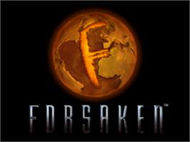 Title screen of Forsaken 64 on the Nintendo N64.