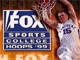 Title screen of Fox Sports College Hoops '99 on the Nintendo N64.
