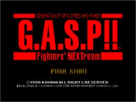 Title screen of G.A.S.P!! Fighter's NEXTream on the Nintendo N64.