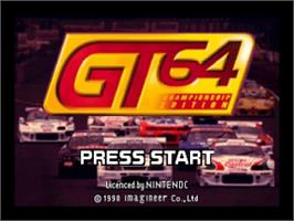 Title screen of GT 64: Championship Edition on the Nintendo N64.