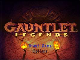 Title screen of Gauntlet Legends on the Nintendo N64.