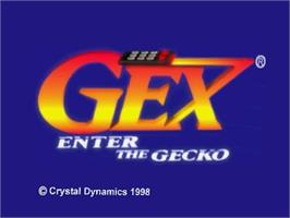 Title screen of Gex: Enter the Gecko on the Nintendo N64.