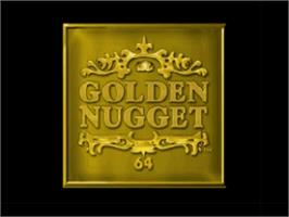 Title screen of Golden Nugget 64 on the Nintendo N64.