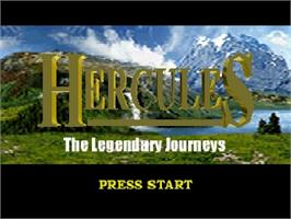 Title screen of Hercules: The Legendary Journeys on the Nintendo N64.