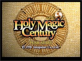 Title screen of Holy Magic Century on the Nintendo N64.