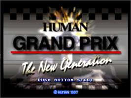 Title screen of Human Grand Prix: The New Generation on the Nintendo N64.