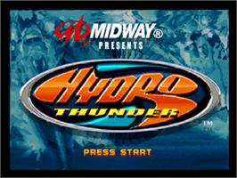 Title screen of Hydro Thunder on the Nintendo N64.