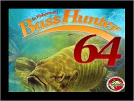 Title screen of In-Fisherman Bass Hunter 64 on the Nintendo N64.