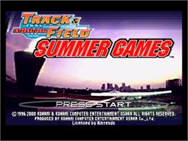 Title screen of International Track & Field: Summer Games on the Nintendo N64.