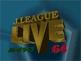 Title screen of J-League Live 64 on the Nintendo N64.