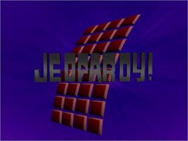 Title screen of Jeopardy on the Nintendo N64.