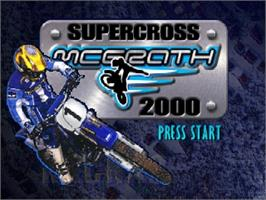 Title screen of Jeremy McGrath Supercross 2000 on the Nintendo N64.
