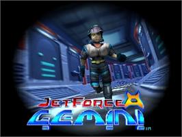 Title screen of Jet Force Gemini on the Nintendo N64.