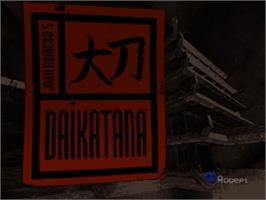 Title screen of John Romero's Daikatana on the Nintendo N64.