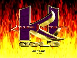 Title screen of Killer Instinct Gold on the Nintendo N64.