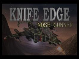 Title screen of Knife Edge: Nose Gunner on the Nintendo N64.