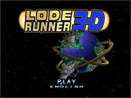 Title screen of Lode Runner 3D on the Nintendo N64.