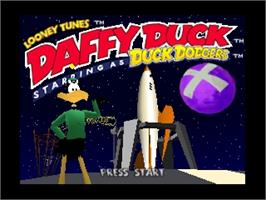 Title screen of Looney Tunes: Duck Dodgers Starring Daffy Duck on the Nintendo N64.