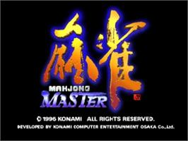 Title screen of Mahjong Master on the Nintendo N64.