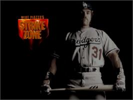 Title screen of Mike Piazza's StrikeZone on the Nintendo N64.