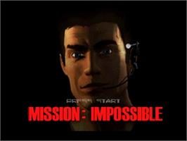 Title screen of Mission Impossible on the Nintendo N64.