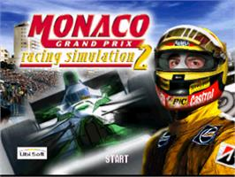Title screen of Monaco Grand Prix Racing Simulation 2 on the Nintendo N64.