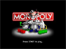 Title screen of Monopoly on the Nintendo N64.