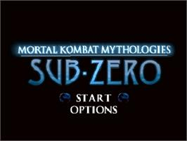 Title screen of Mortal Kombat Mythologies: Sub-Zero on the Nintendo N64.