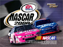 Title screen of NASCAR 2000 on the Nintendo N64.
