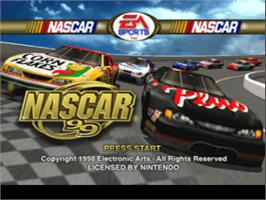 Title screen of NASCAR 99 on the Nintendo N64.