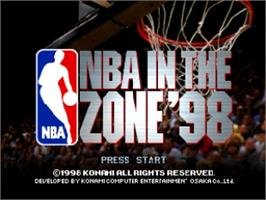 Title screen of NBA: In the Zone '98 on the Nintendo N64.