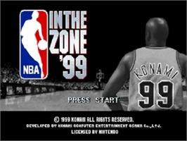 Title screen of NBA: In the Zone '99 on the Nintendo N64.