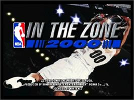 Title screen of NBA: In the Zone 2000 on the Nintendo N64.