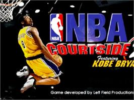 Title screen of NBA Courtside 2: Featuring Kobe Bryant on the Nintendo N64.