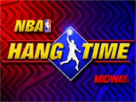 Title screen of NBA Hang Time on the Nintendo N64.