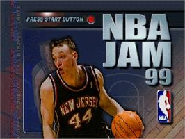 Title screen of NBA Jam 99 on the Nintendo N64.