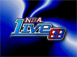 Title screen of NBA Live '99 on the Nintendo N64.