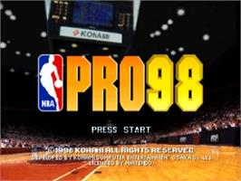 Title screen of NBA Pro 98 on the Nintendo N64.