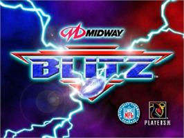 Title screen of NFL Blitz on the Nintendo N64.