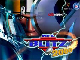 Title screen of NFL Blitz 2000 on the Nintendo N64.