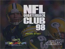 Title screen of NFL Quarterback Club '98 on the Nintendo N64.