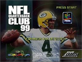 Title screen of NFL Quarterback Club '99 on the Nintendo N64.