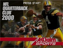 Title screen of NFL Quarterback Club 2000 on the Nintendo N64.