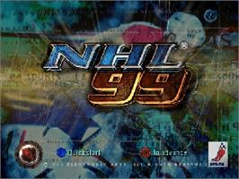 Title screen of NHL 99 on the Nintendo N64.