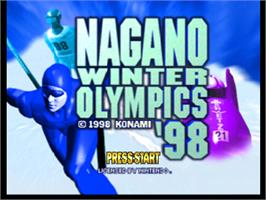 Title screen of Nagano Winter Olympics '98 on the Nintendo N64.