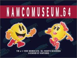 Title screen of Namco Museum 64 on the Nintendo N64.