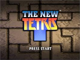 Title screen of New Tetris on the Nintendo N64.