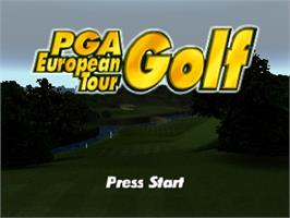 Title screen of PGA Golf European Tour on the Nintendo N64.